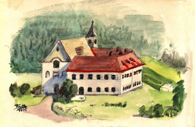 Aquarel of Monastery - Apartment in in the former monastery - Gnesau - rentals