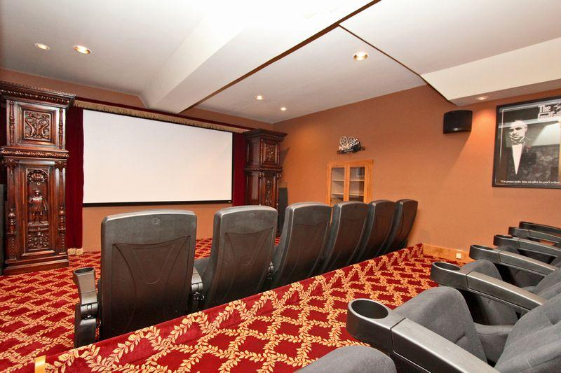 The incredible theater room. - Lions Lakefront Escape - 5 Star! High End! Dock! - City of Big Bear Lake - rentals