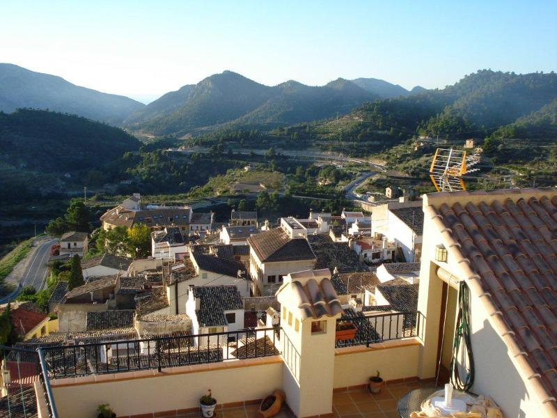 view from the main terrace - Room with spectacular views  in great walking area near the Costa Blanca beaches - Sella - rentals