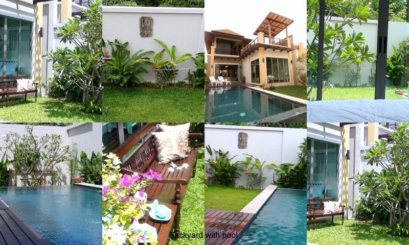 BACKYARD WITH POOL - 3 Bed Private Pool Villa,close To Laguna Area,Bang Tao/Surin Beaches,golf,spas and Marina(Dl/wkl/mt) - Phuket - rentals