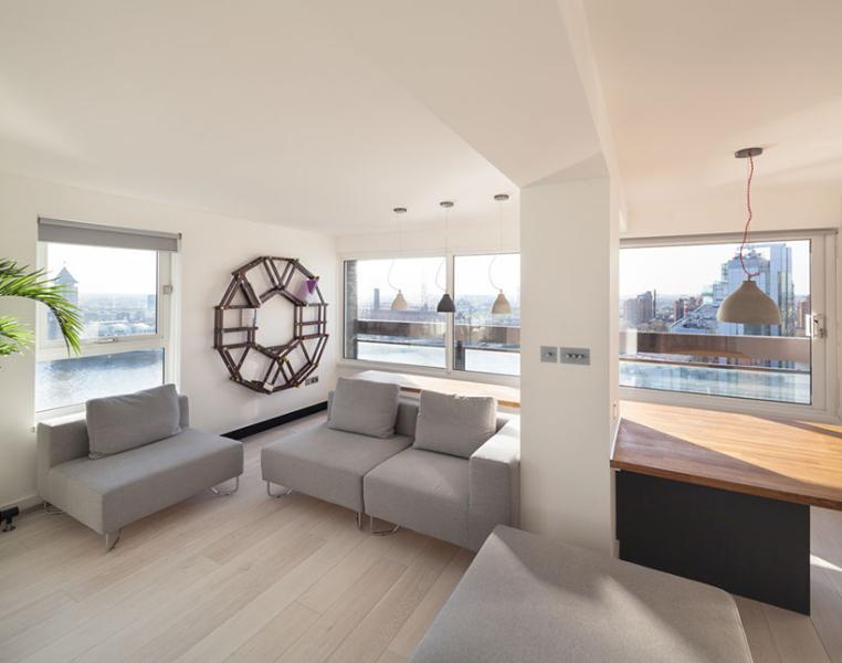 Living Area - 1BR - Battersea/Vauxhall   - Sumptuous studio in Battersea/Vauxhall - London - rentals