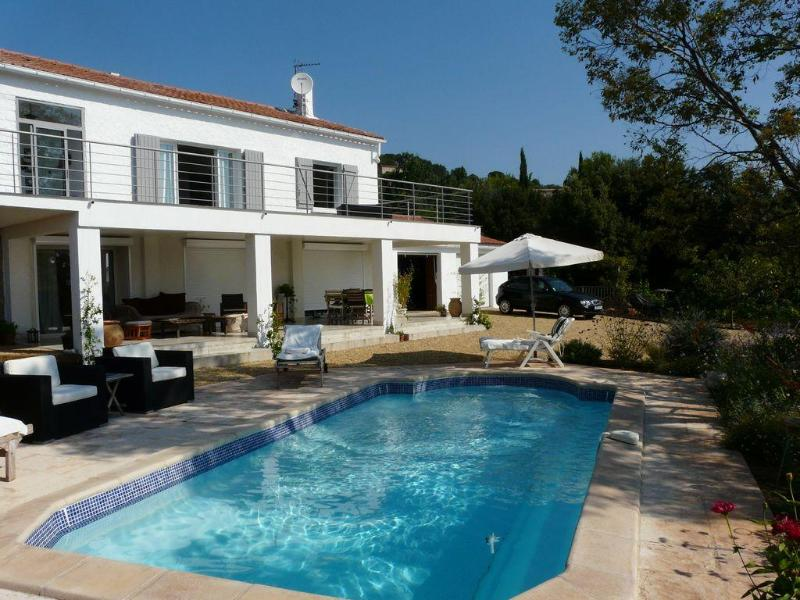 View of Upper Apartment from Pool - Villa Val d'Or Apartment with a Pool, Fireplace, a - Cotignac - rentals