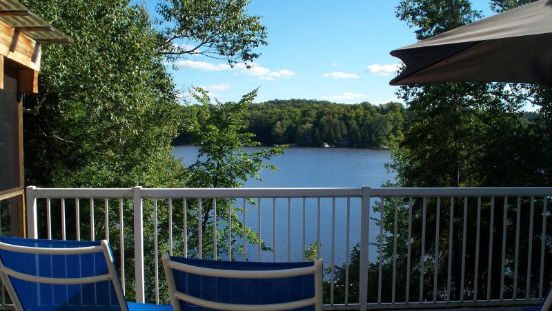 View from the large deck, partly screened - Beautiful Modern LAKESIDE Cottage in Haliburton - Haliburton - rentals