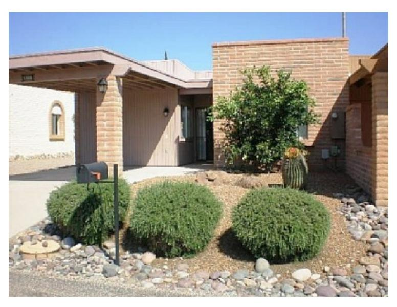 Front View of Home & Car Port - Quiet 2 BR Villa Green Valley AZ Fully Furnished - Green Valley - rentals