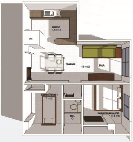 Plans of the apartment - Small Luxury In The Beach - Salinas - rentals