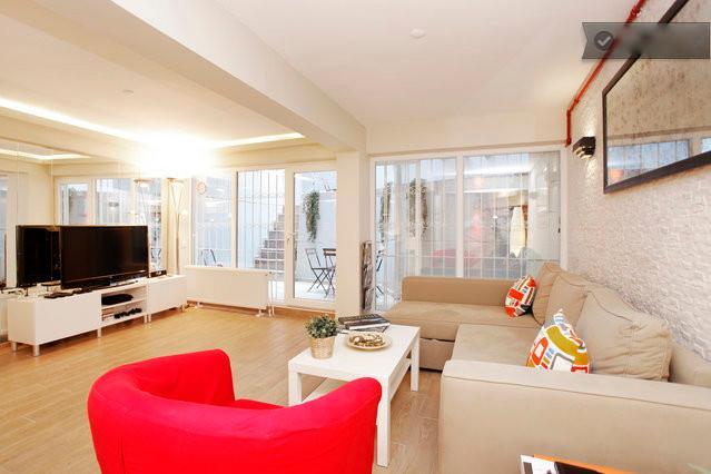 Living Room - 2 Bedroom & Private Garden & Galata - Istanbul - rentals