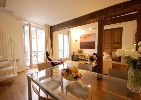 Marais - St. Paul Chic duplex apartment - Image 1 - Paris - rentals