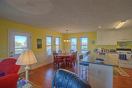 Dining Room - Three Seasters Canal Front - Surf City - Surf City - rentals