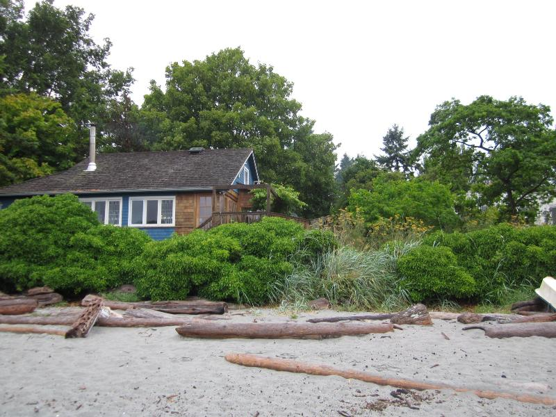 Cottage from the beach. - Beachside cottage  on Cadboro Bay, Victoria, BC. - Victoria - rentals