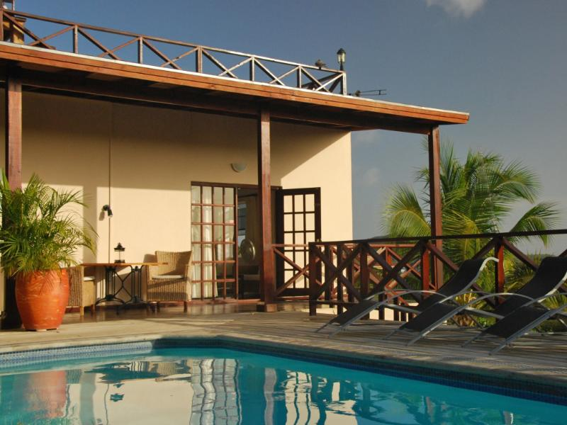 View from our pool at apartment 4 - Curavilla | Luxurious double apartment with pool, #4 - Willemstad - rentals