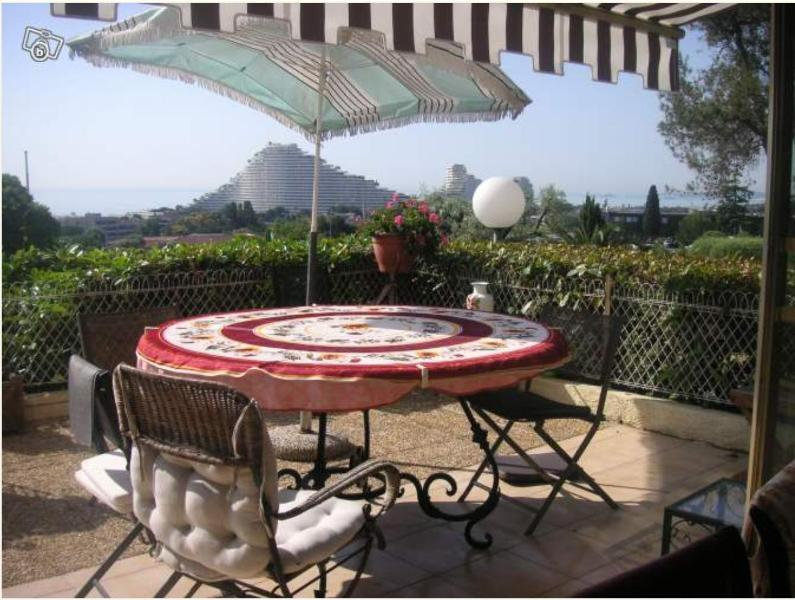 Garden apartment with panoramic sea view - Image 1 - Nice - rentals