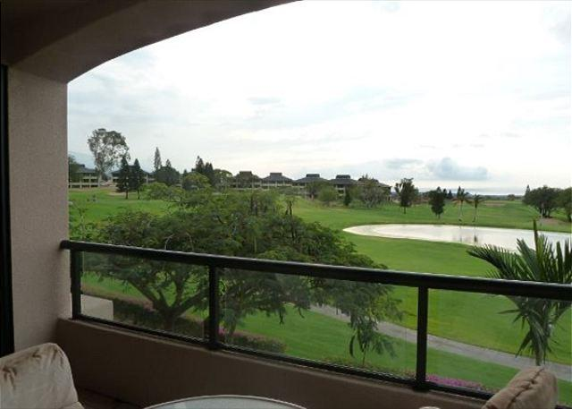 Lanai View of Ocean and Golf Course - Waikoloa Fairways 2 Bedroom Beauty with Ocean and Golf Course Views-WF A203 - Kohala Coast - rentals
