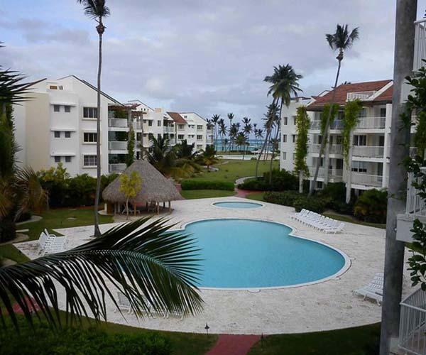 Straighline View from terrace - Straightline View 2 BR Condo in Playa Turquesa - Punta Cana - rentals