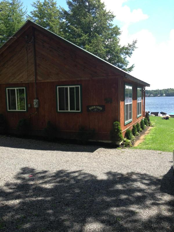 Front of House - Lakefront vacation home with spectacular lake views - Caroga Lake - rentals