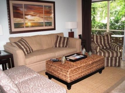 Living Room 1 - Gulfside Small Garden Unit S - Sarasota - rentals