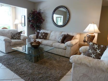 Living Room - Bayfront Small Garden Unit B - Sarasota - rentals