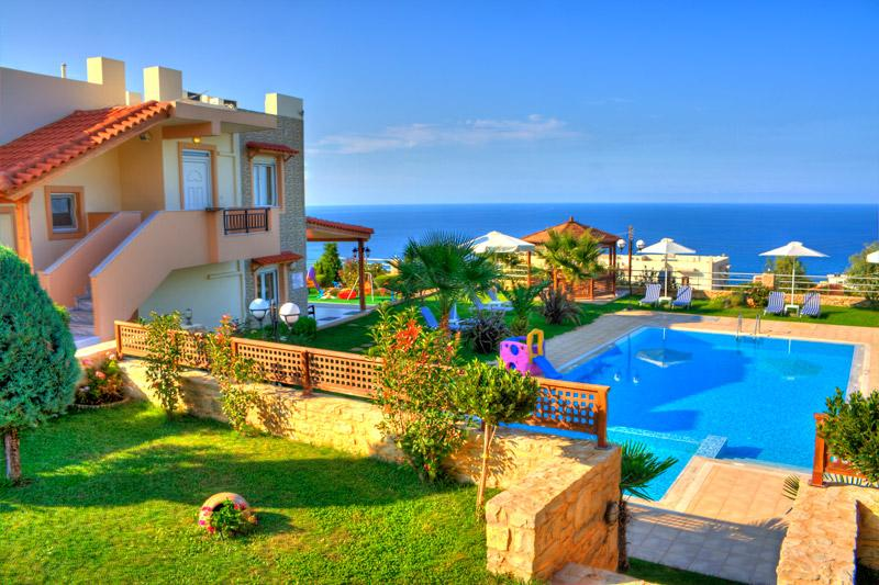 Lux villa with panoramic sea view, gardens and pool - Image 1 - Rethymnon - rentals