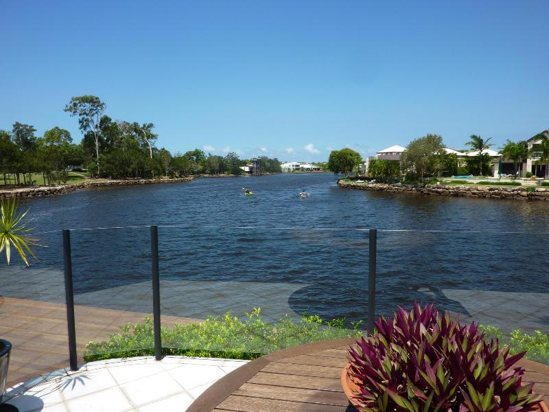 direct view of estuary lake joins maroochy River and stauaries - Great Waterfront Holiday Home -Nautilus Place Twin Waters - Sunshine Coast - rentals