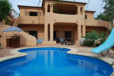 frontal view - Large country home, 5 beds, 4 baths, private pool - Jimena de la Frontera - rentals