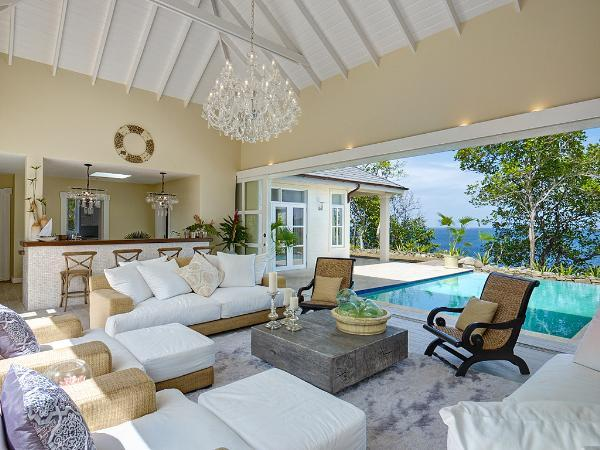 5 bedrooms, 5 bathroom, 2 pools, ridge top villa, path to beach, sunset and sunrise views, 360 views of the Grenadines. (v) - Image 1 - Saint Vincent and the Grenadines - rentals