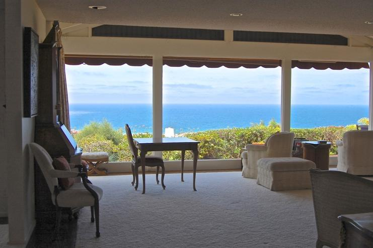 View from living room. - La Jolla Shores, Ocean Views, Pool, Spacious Home. - La Jolla - rentals