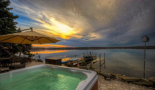 Wise Owl Landing overlooking Cayuga Lake - Lakefront,Patio,Dock Hot Tub Sleep 10 Fingerlakes - Cayuga Lake - rentals