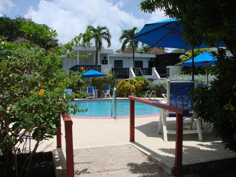 Entrance to pool area - Barbados Apartment including discounted golf - Rockley - rentals