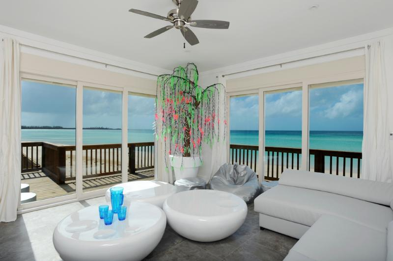 The Chill Out Room with 180 degree beach and ocean views - Luxurious Private Villa Suspended Above Beach NEW - Governor's Harbour - rentals