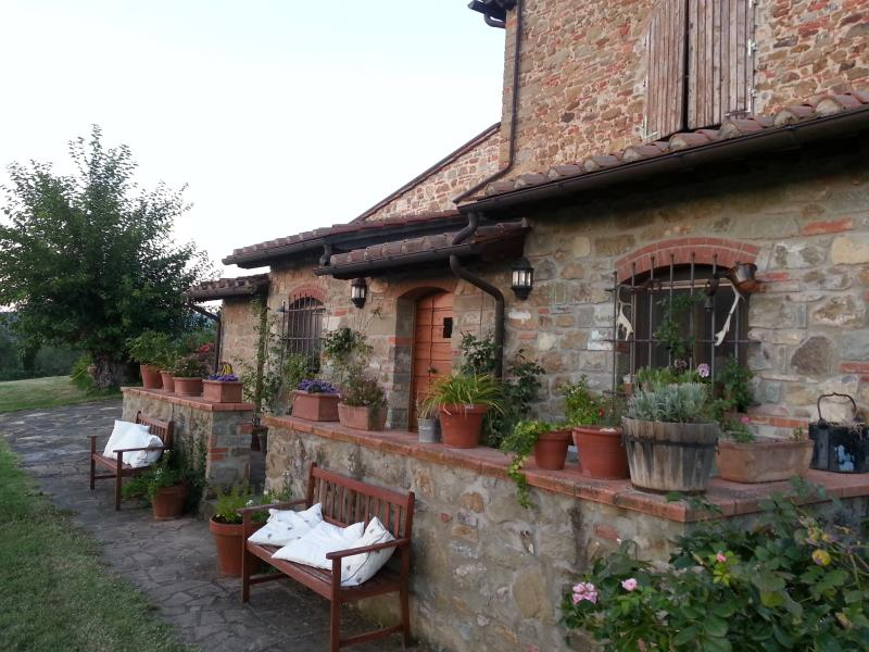 Front view of the main apartment - Lovely apts in farmhouse very close to Florence. - Reggello - rentals