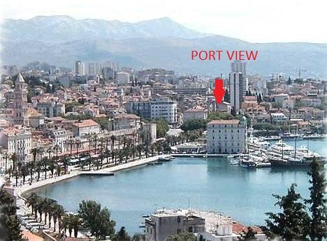 position in Split - view from apartment  PORT VIEW - Split - rentals