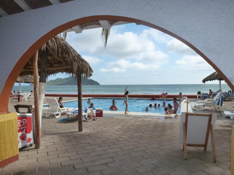 Lobby/Pool/Sea - ON THE BEACH!  Beautiful Condo in the Zona Dorada - Mazatlan - rentals