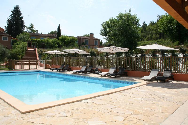 Our wonderfull pool - Gite de l'Anis, Pet-Friendly Studio with a Hot Tub - Brignoles - rentals