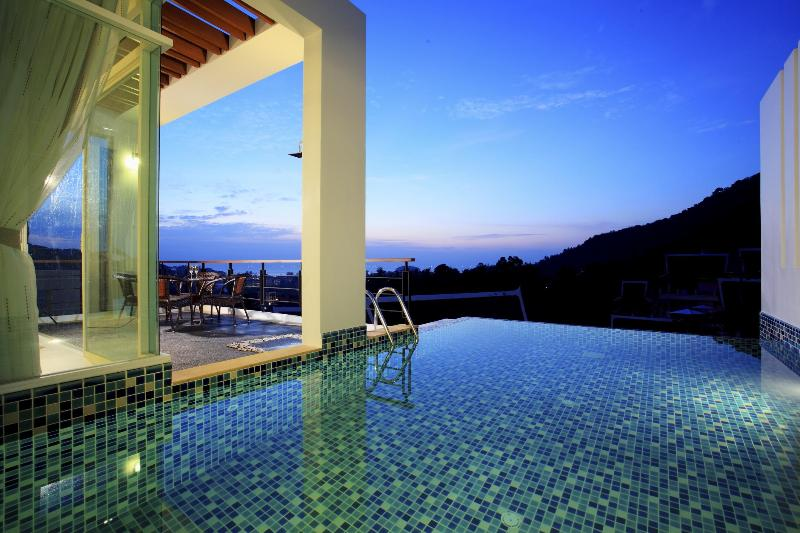 Ocean/Sunset views from pool - Kata Sea View Villas with Private Pool & Chef - A1 - Kata - rentals