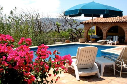 Sun and shade near the heated pool - -   Deluxe Casita -wide vistas/ bedroom balcony - Jocotepec - rentals