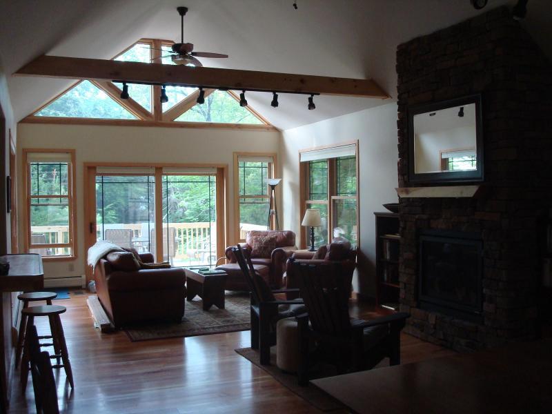 Great Room Sitting Area - Adirondacks Year Round Chalet - Minerva - rentals