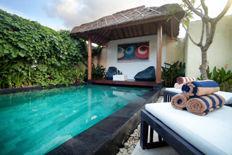 Pool with tropical Garden - Nice Villa + privat Garden and Pool in Seminyak - Seminyak - rentals