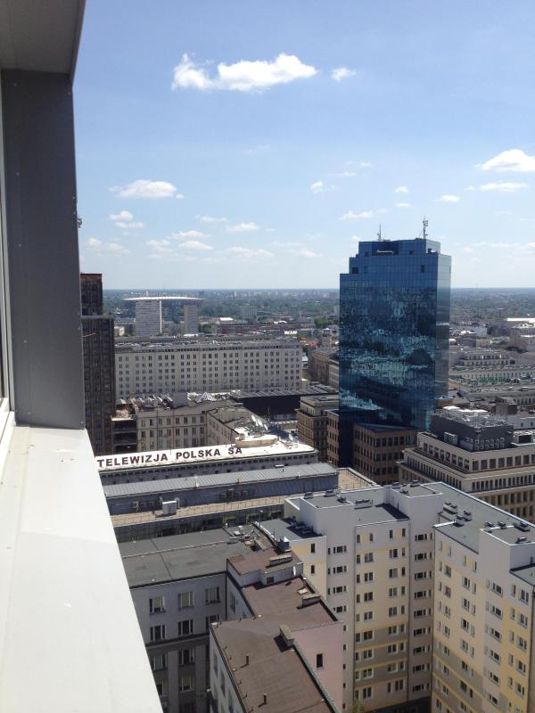 balcony with city view - APARTMENTS CITY CENTER WARSAW 20.FLOOR - Warsaw - rentals