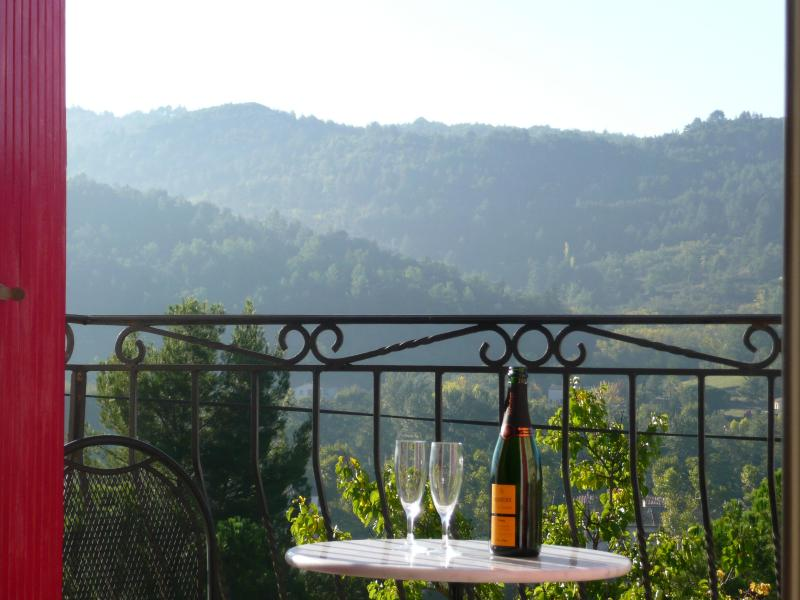 Views from the cottage over the Aude valley. - Stone cottage hilltop village with stunning views. - Languedoc-Roussillon - rentals