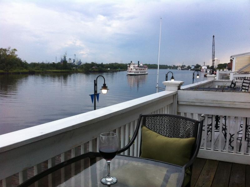 view from porch - riverfront condo in historic downtown wilmington - Wilmington - rentals
