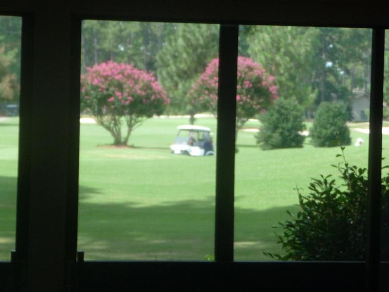 looking out from living room - Unobstructed golf view of Pinehurst #5 - Pinehurst - rentals