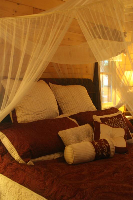 Master Bedroom...King size bed - Couples cabin on a 65 acre buffalo ranch! - Clyde - rentals