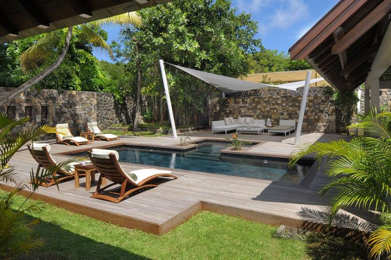 The deck and the private pool - Stunning and modern villa with a private pool! - Pointe aux Cannoniers - rentals