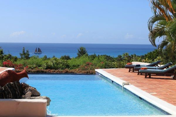 Unforgettable Long Bay view from this Mediterranean style villa. C TES - Image 1 - Baie Longue - rentals