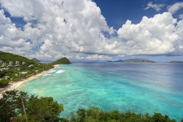 Nestled in lush hills above Long Bay, this villa has spectacular ocean views. KLG SUN - Image 1 - Long Bay - rentals