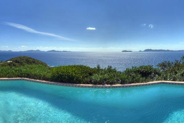 10- minute drive to Road Town, this villa is set atop a scenic promontory. MAT RHU - Image 1 - British Virgin Islands - rentals
