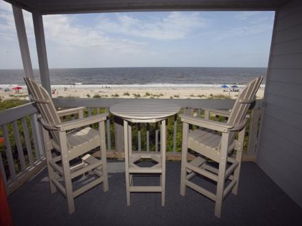 Great view from the deck - Oak Island Beach Villa 0406 - Caswell Beach - North Carolina - Caswell Beach - rentals