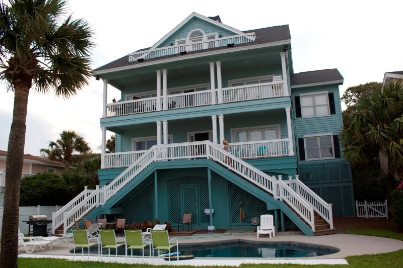 beach view - 85 Dune, Spacious Seven Bedroom Oceanfront Home - Hilton Head - rentals