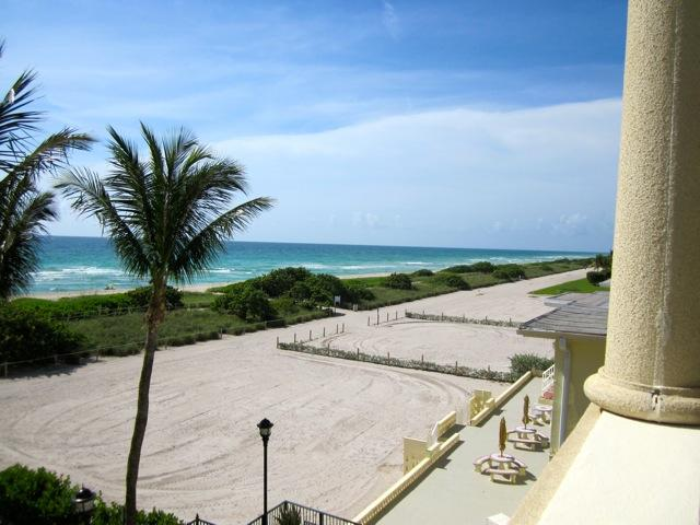 View from the balcony - Amazing Direct Beach Front Condo in Surfside, FL - Surfside - rentals