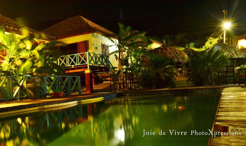 the pool by night - Westhill Bungalows Curacao - Westpunt - rentals