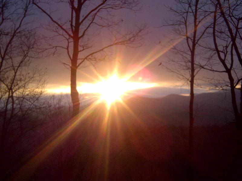 winter sunset - NEAR BLUE RIDGE AUG. 3 NGTS/$270  HIKE HOTTUB WIF - Blue Ridge - rentals